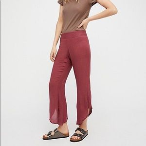 Free People Dancing Days Solid Flare Pants Small